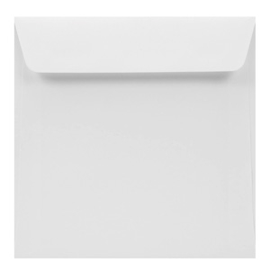 Square white envelope