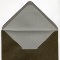 Decorative envelope pearl brown C6