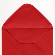Decorative envelope pearl red C6