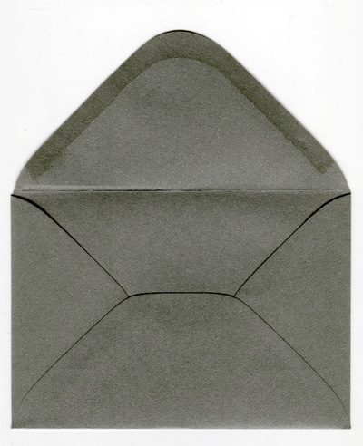 Decorative envelope pearl graphite C6