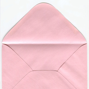 Pearl envelope - powder pink