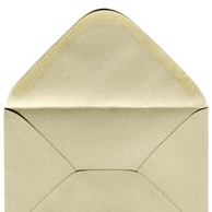 Decorative envelope pearl pale gold C6