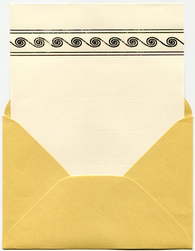 Embossed stationery set