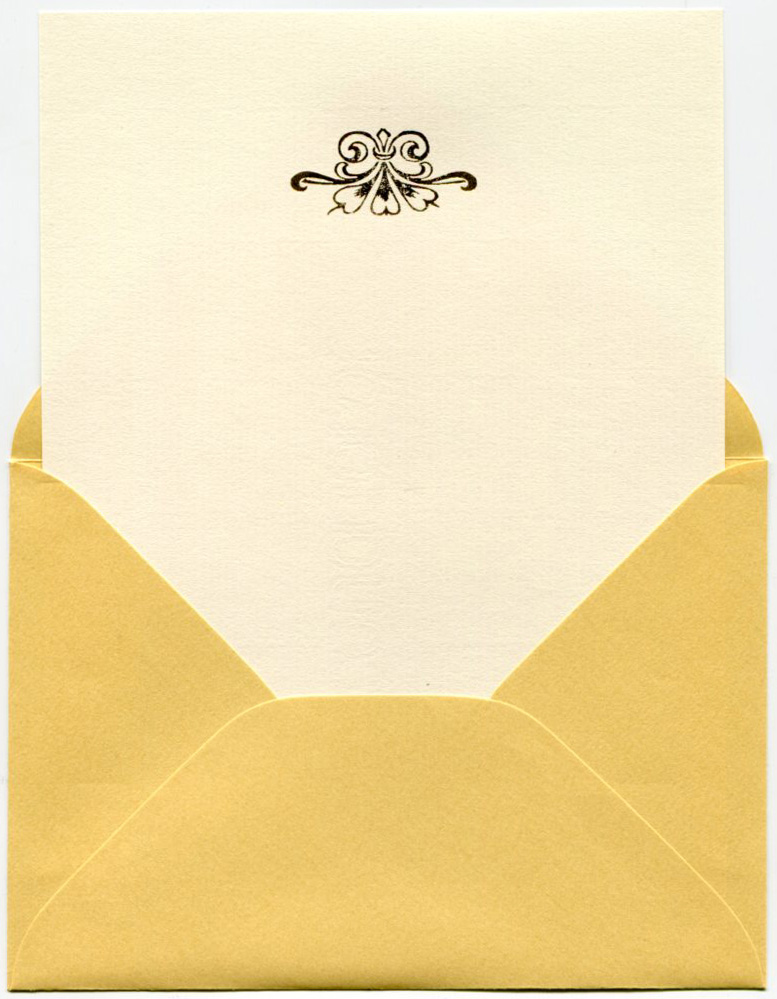 graphic about Embossed Stationery identified as Embossed stationery fastened \