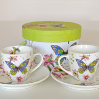 Two espresso cups set - Butterfly