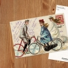 Retro cyclists collage