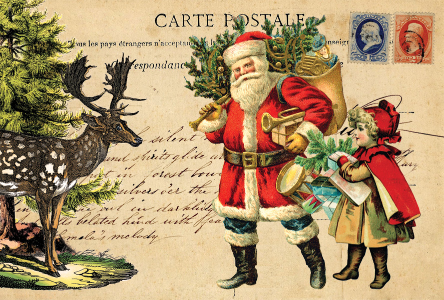 Santa Clause Collage Collages Postcards Postallove