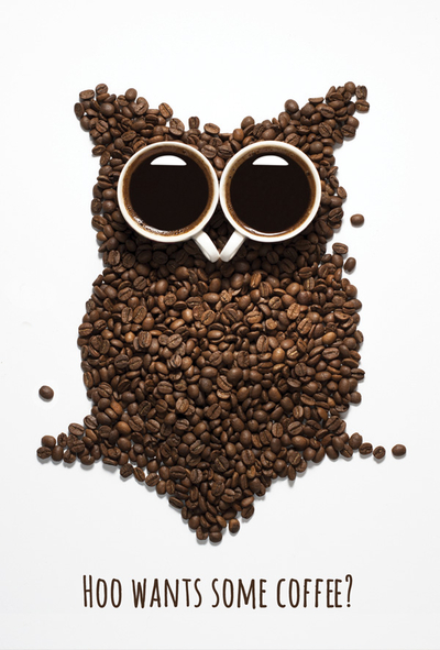 Hoo wants some coffee?