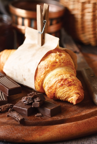 Chocolate Croissant Culinary Postcards Postallove