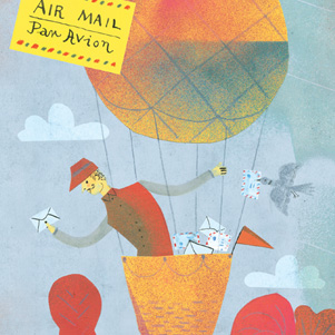 The postman in a balloon - Marianna Sztyma