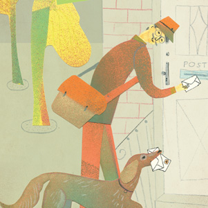 Postman and dog - Marianna Sztyma