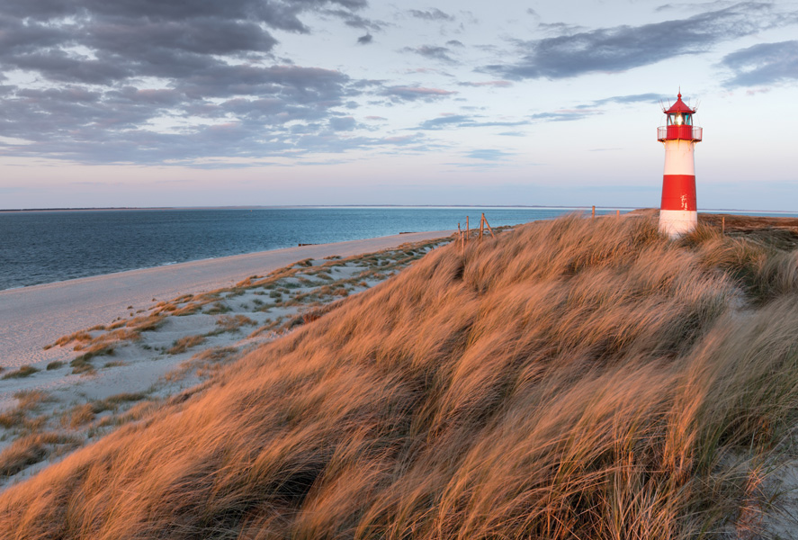 Landscape With Sand Dunes And A Lighthouse Landscapes