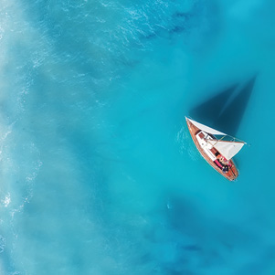 From a bird's eye view - yacht