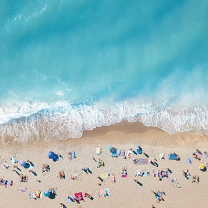From a bird's eye view - beach