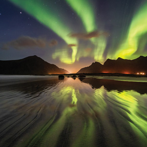 The northern lights in Lofoten Islands