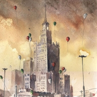 Grzegorz Chudy - Palace of culture with baloons