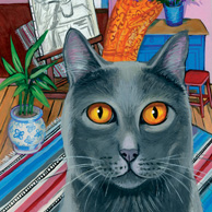 Isy Ochoa - Interior with grey cat
