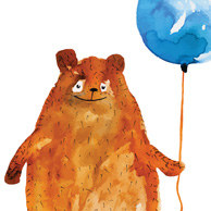 Bear with a balloon