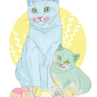 Terakoty - Easter cats