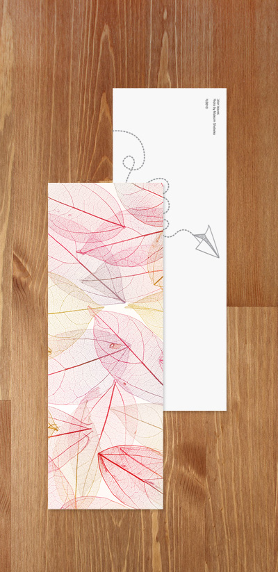 Bookmark - Colorful leaves