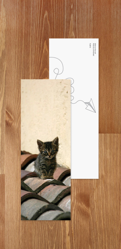 Bookmark - Kitten on the roof
