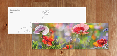 Bookmark - Poppy flowers