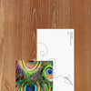 Bookmark - Peacock feathers