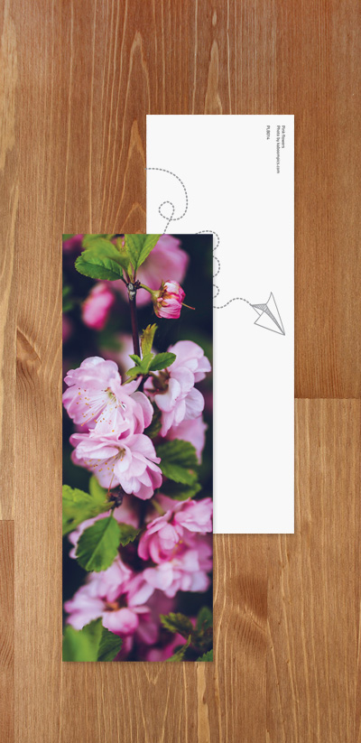 Bookmark - Pink Flowers