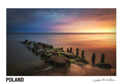 Poland - Love to be here... - Baltic Sea at sunset