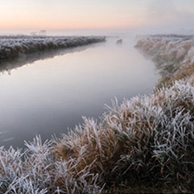 Poland - Love to be here... - Frosty morning on the Narew river