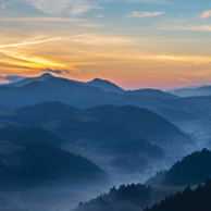 Poland - Love to be here... - Sunset in the Pieniny Mountains