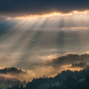 Poland - Love to be here... - Sunrise in the Pieniny Mountains