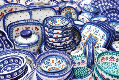 Traditional Polish pottery from Boleslawiec, Poland