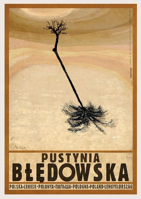 POLAND Bdw Desert Plakat Polska Series Postcards