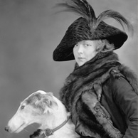 Lady with a greyhound