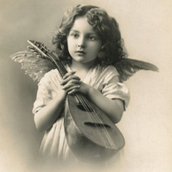 Putto with mandolin