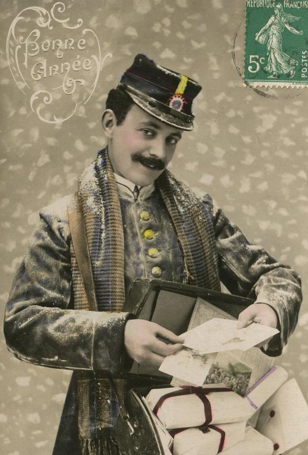 Почтальоны на открытках