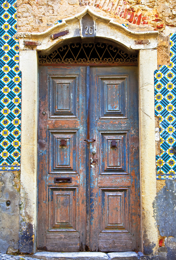 Antique doors in Portugal ... - Antique Doors In Portugal / Stairs, Doors And Windows / Postcards