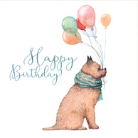 Happy Birthday (Dog with the balloons)