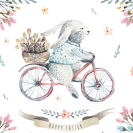 Easter - Rabbit on bike