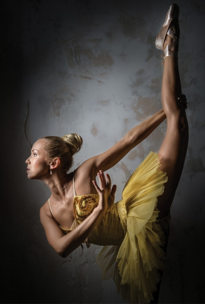 Ballerina in yellow tutu