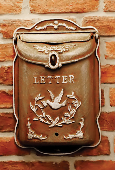 Mailbox with dove