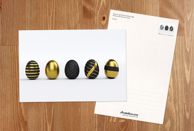 Modern black and gold Easter eggs