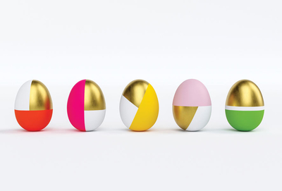 Modern colorful Easter eggs