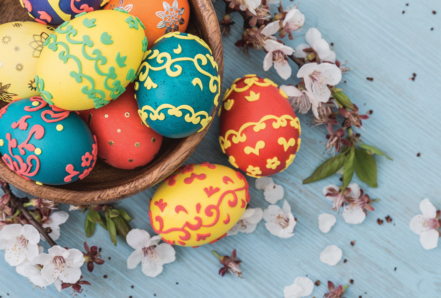Easter Eggs In The Basket Easter Postcards Postallove