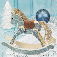 Wooden christmas horse