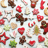 Colorful gingerbreads