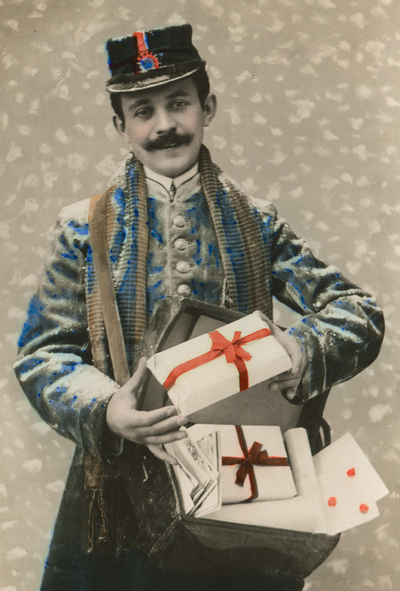 Postman with gifts
