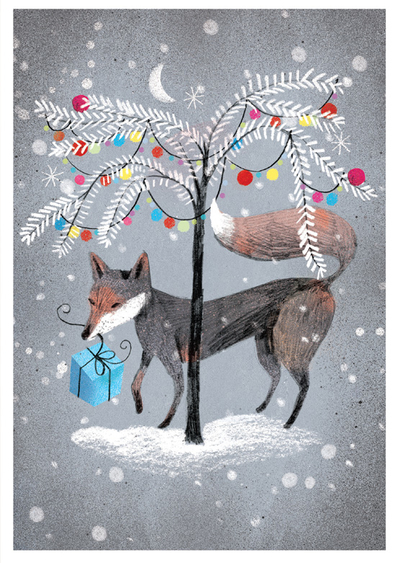 Marianna Sztyma - Christmas fox with gift
