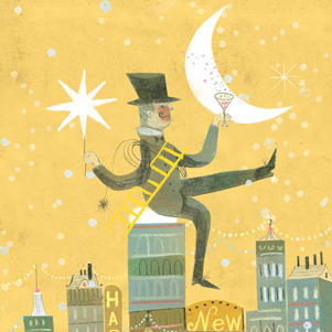 Marianna Sztyma - Happy New Year - Chimney sweep